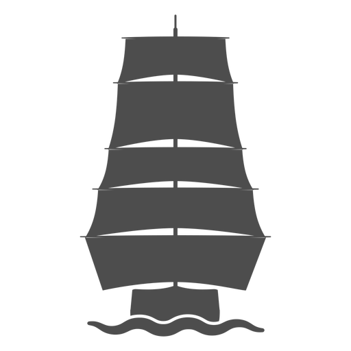 Front galleon filled stroke