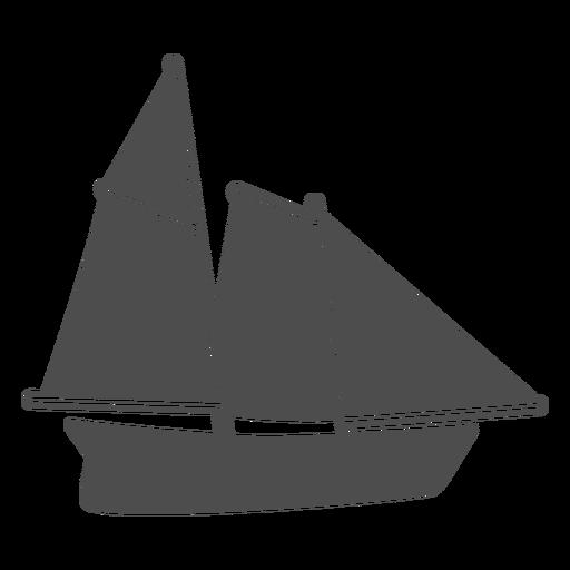 Side sailboat filled stroke