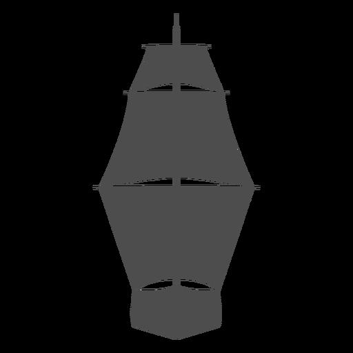 Frontal sail ship filled stroke
