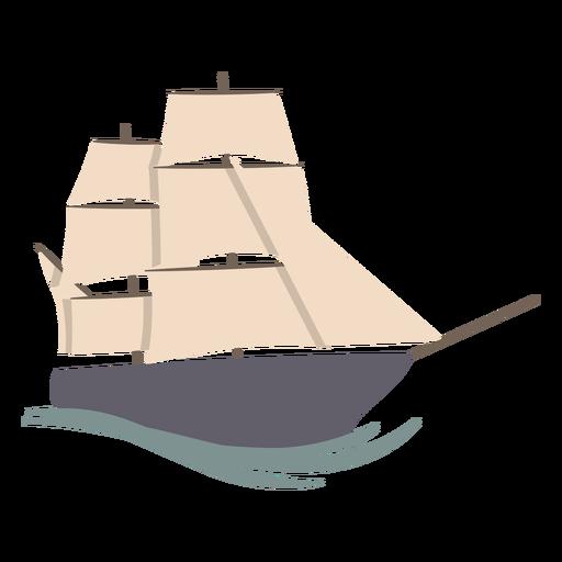 Sail ship color stroke