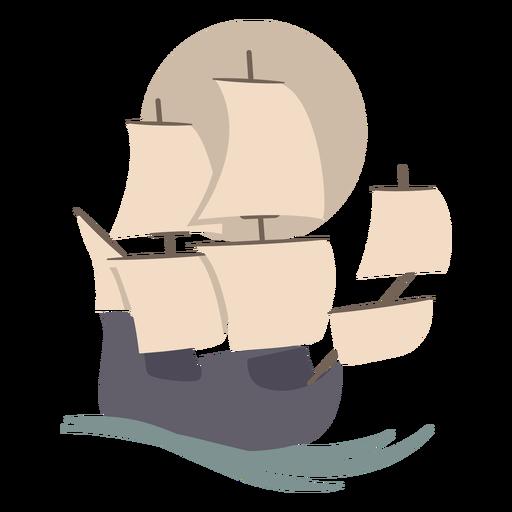 Sailing boat flat