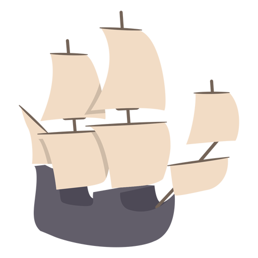 Sail ship semi flat