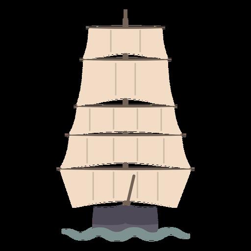 Sailing ship up front flat
