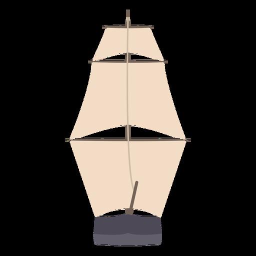 Sail ship flat