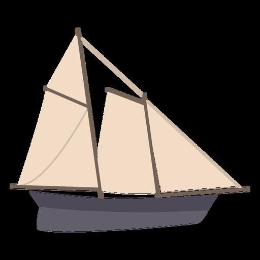Sail boat profile flat