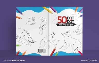 Animals dot to dot book cover design