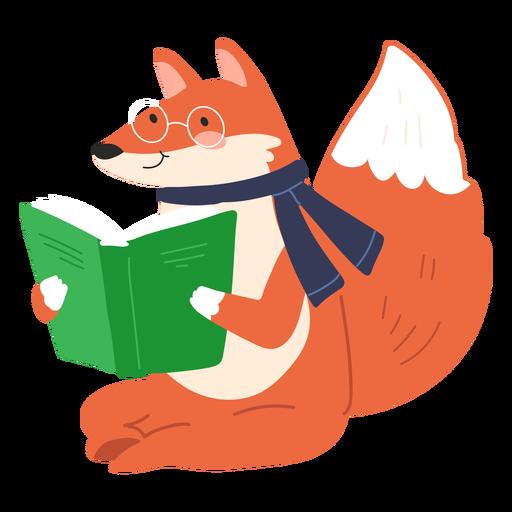Fox reading cute