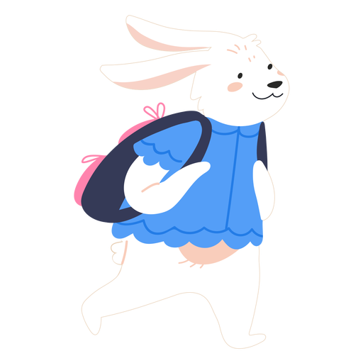 Bunny with backpack cute
