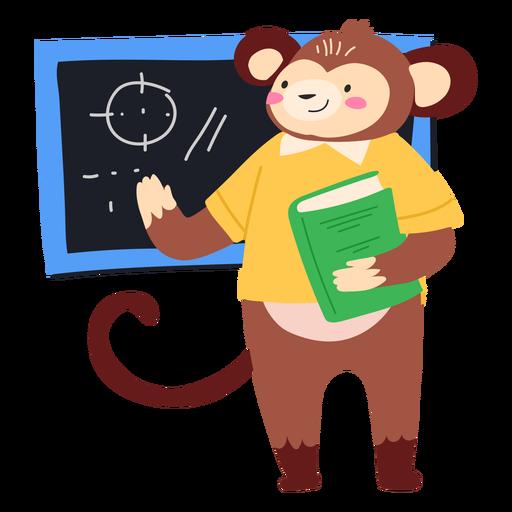 Monkey teacher cute