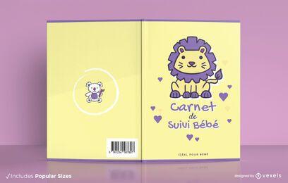 Projeto da capa do livro para bebê