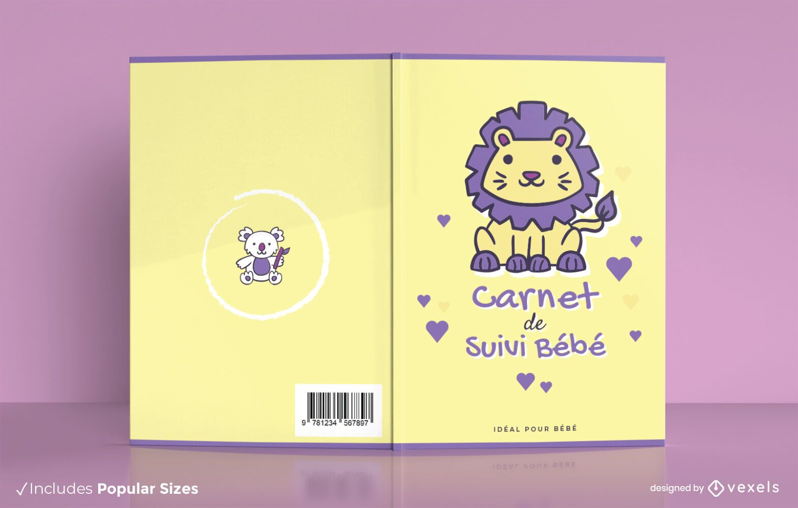 Baby check up book cover design