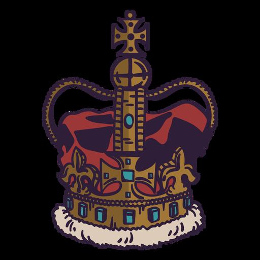 Royal crown color stroke