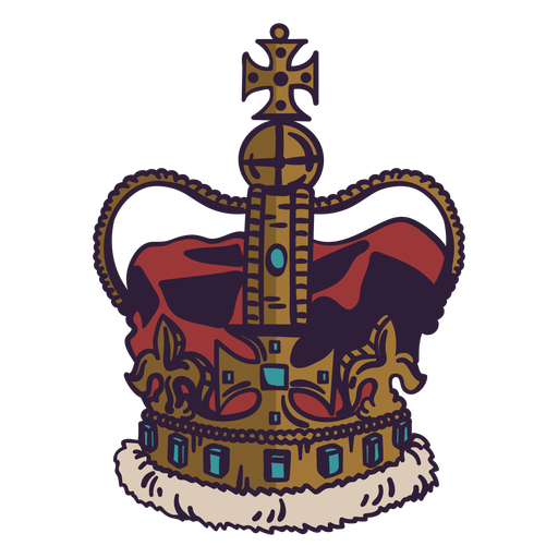 Trazo de color de la corona real