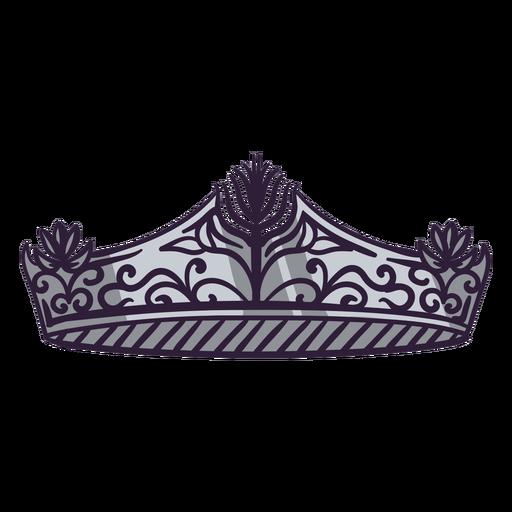 Princess crown color stroke