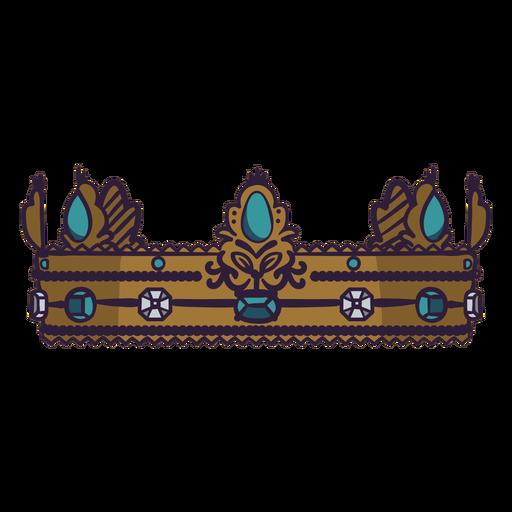 Queen's crown color stroke