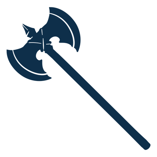 Double axe medieval weapon