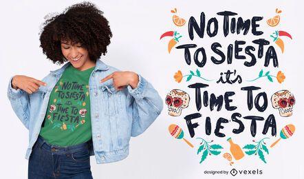 Design de camiseta com citação de festa mexicana