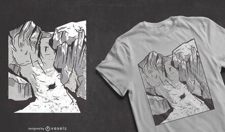 Design de camiseta de esporte de montanha para esquiar