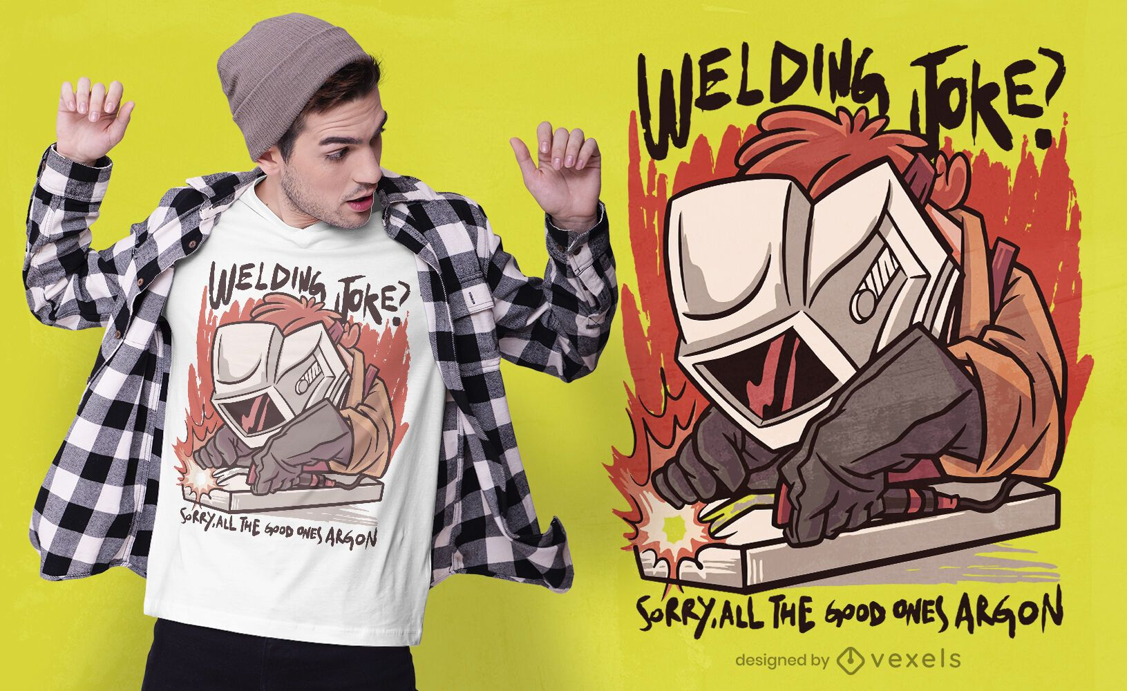 Welder working funny t-shirt design