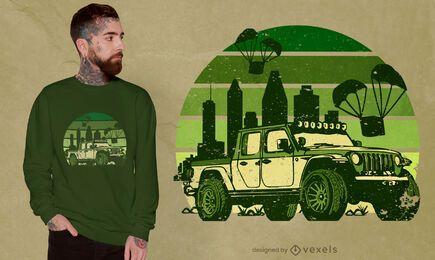 Diseño de camiseta de vehículo todoterreno.