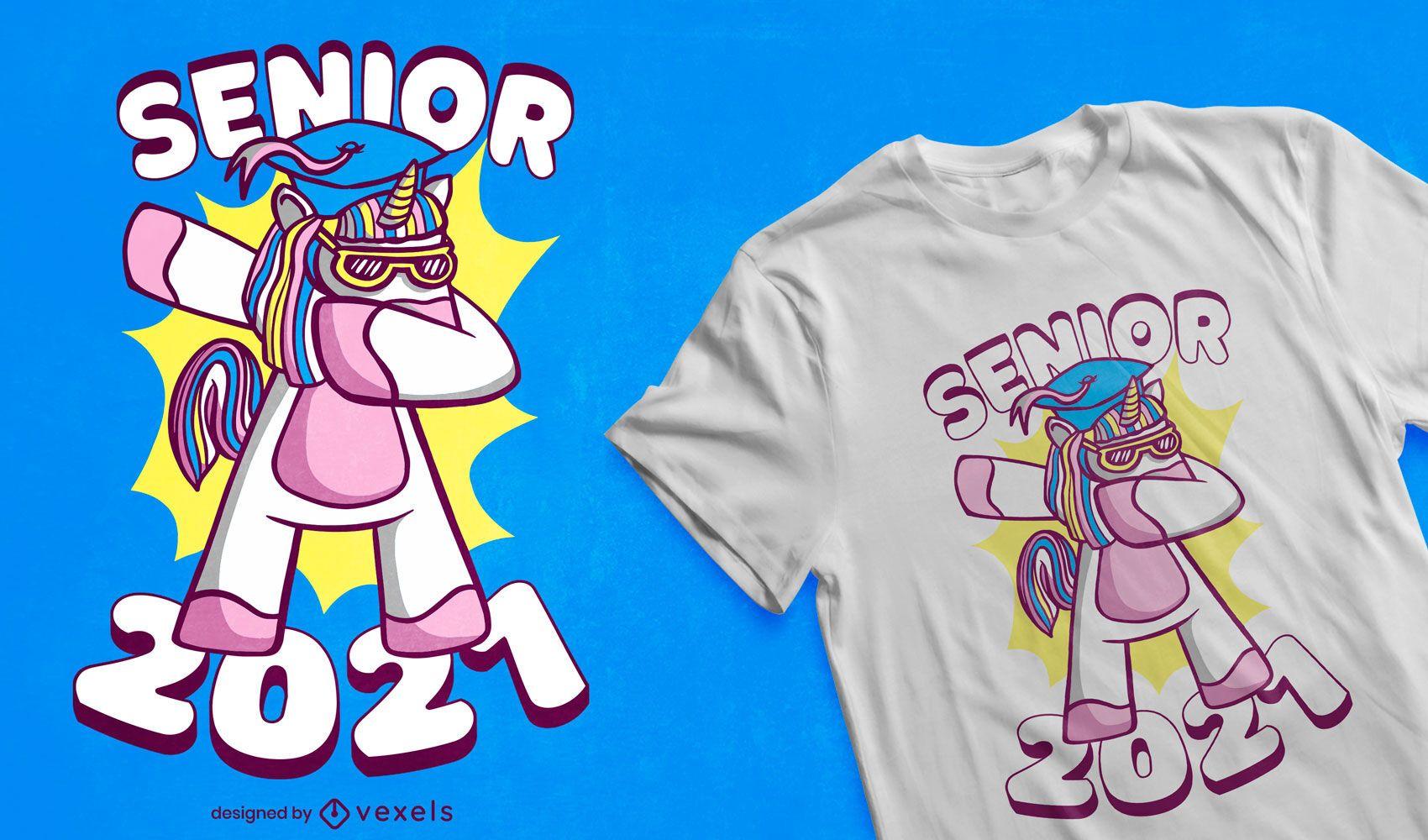Graduation unicorn t-shirt design
