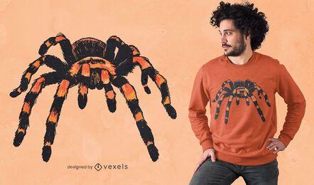 Realistic tarantula t-shirt design