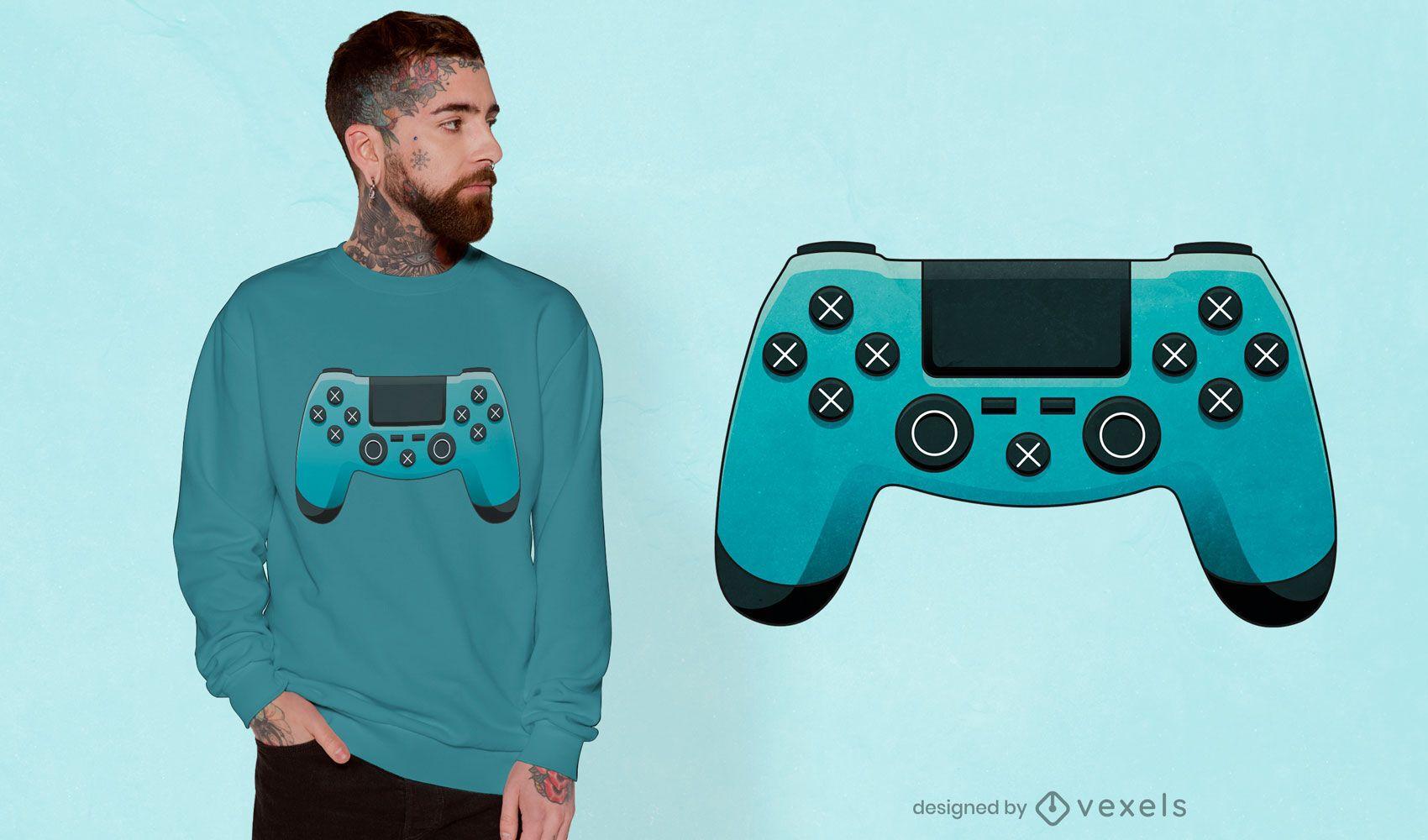 Diseño de camiseta de controlador de juegos.