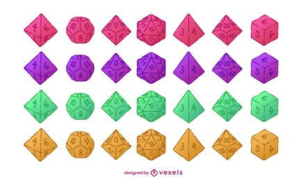 RPG fantasy playing dices illustration