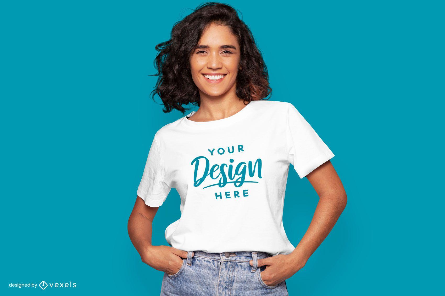 Hände in Taschen Modell T-Shirt Modell