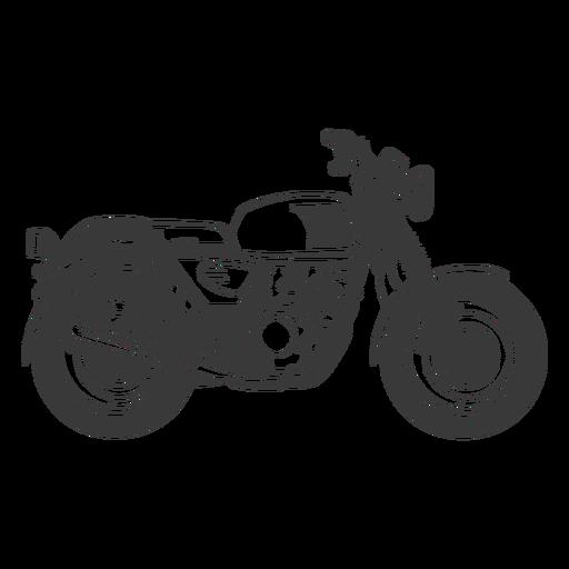 Motorbike filled stroke