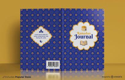 Diseño de portada de libro de diario de Ramadán