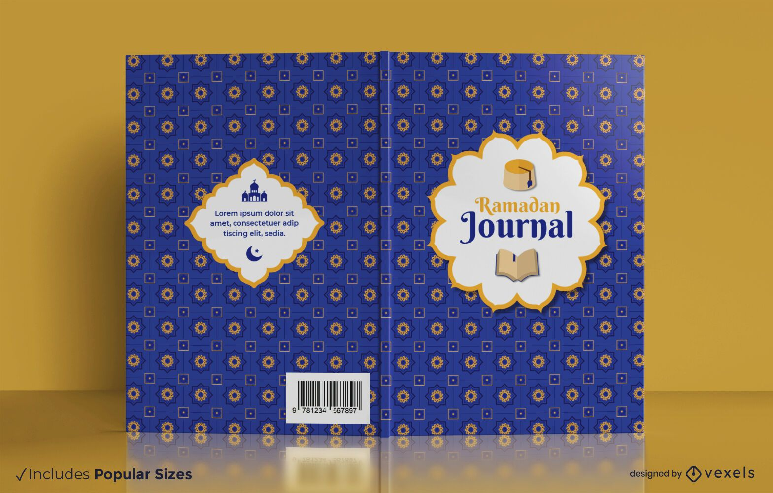 Ramadan journal book cover design