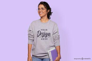Studentin Modell Sweatshirt Modell