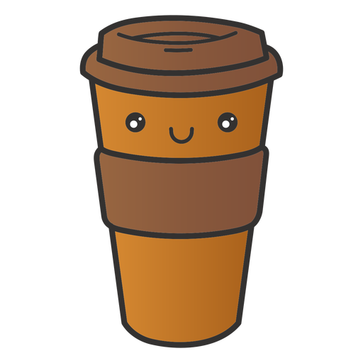 Reusable coffee cup cute