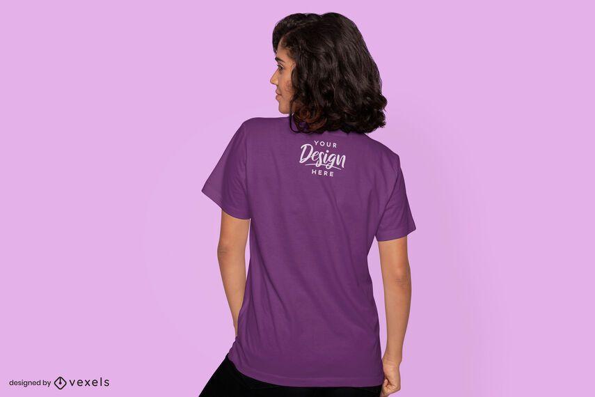 Woman back t-shirt mockup