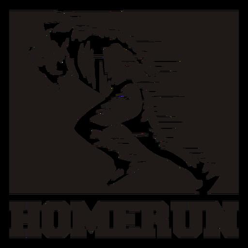 Homerun sign cut out