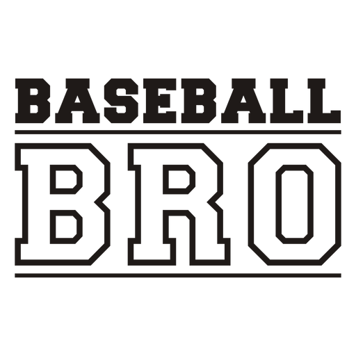 Baseball bro quote filled stroke