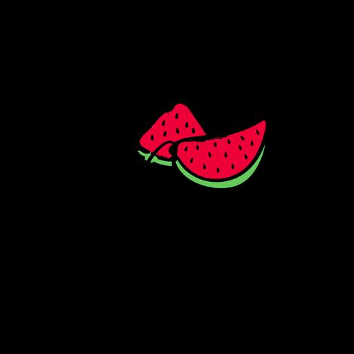 Watermelon lettering