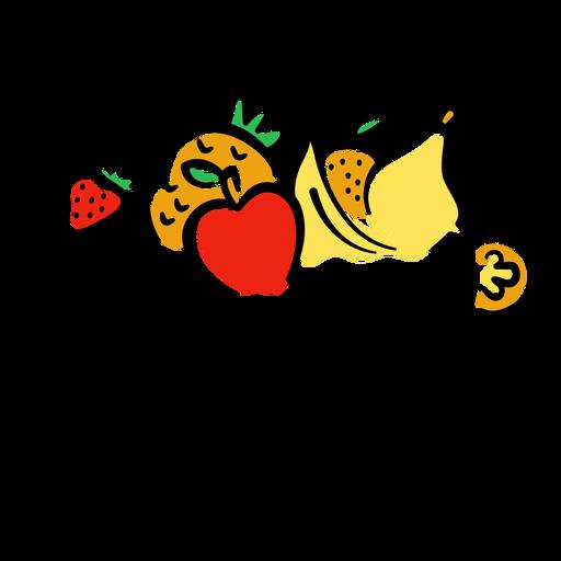 Fruit lettering