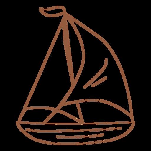 Brown sail boat stroke