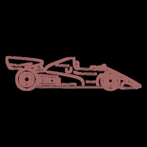 Purple race car stroke