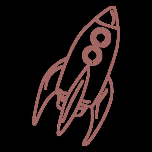 Purple space rocket stroke