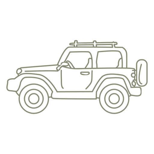All terrain car profile stroke