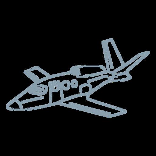 Private jet plane stroke