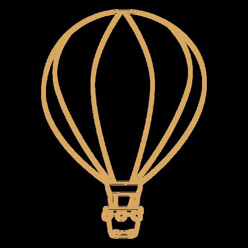 Hot air balloon beige stroke