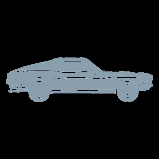 Gray vintage car cut out