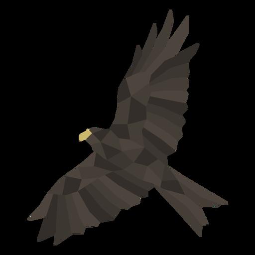 Flying eagle polygonal
