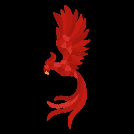 Phoenix bird polygonal
