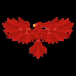 Phoenix with spread wings polygonal