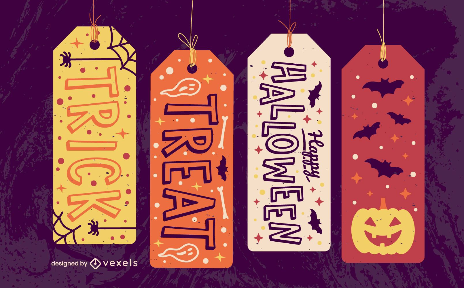 Halloween hang tags spooky gift set